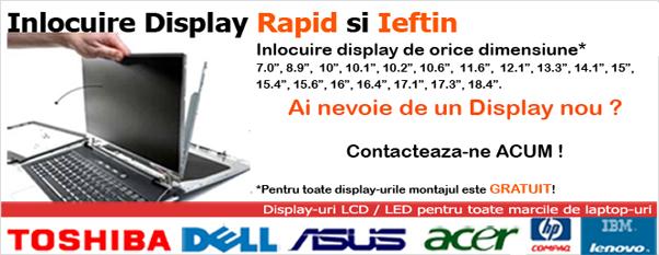 Schimb display laptop constanta repar display laptop